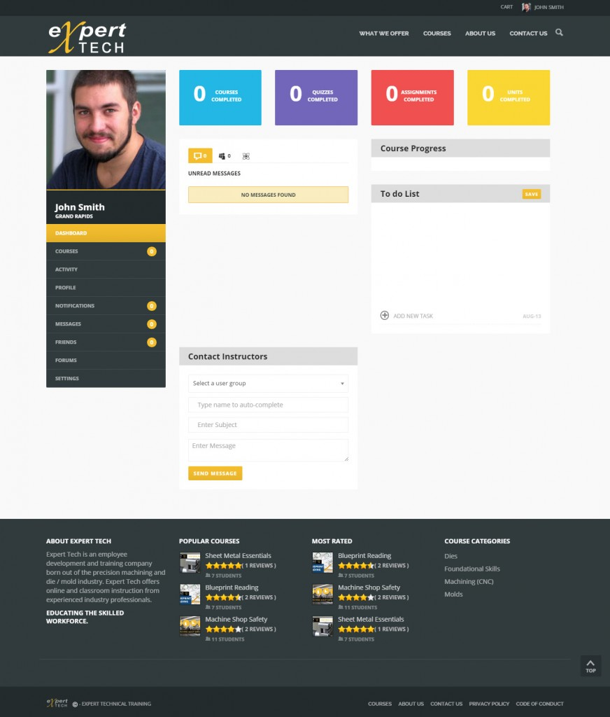Student Dashboard Page